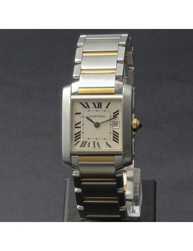 Cartier Tank Francaise acciaio e oro anno 2008