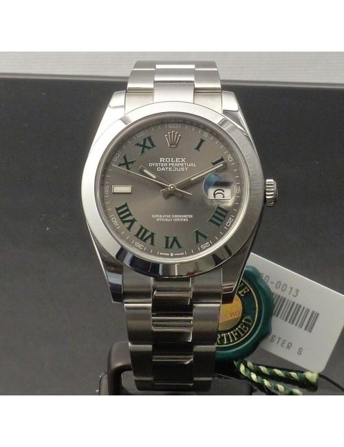 Rolex Datejust2 41 mm quadrante Wimbledon
